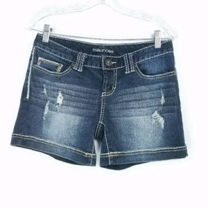 Maurices Womens Size 3 Shorts Distressed Blue